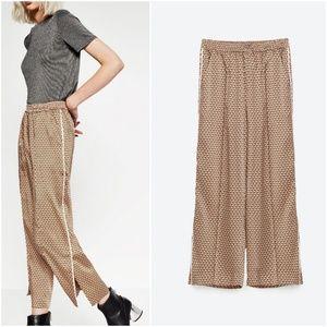NWT Zara Size S Satiny Vintage Feel Pants